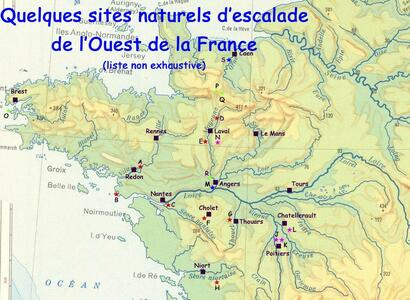 SITES D'ESCALADE DE L'OUEST